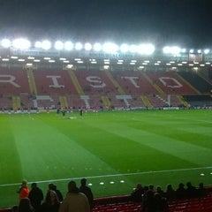 Photo taken at Ashton Gate Stadium by Ronald A. on 10/21/2014