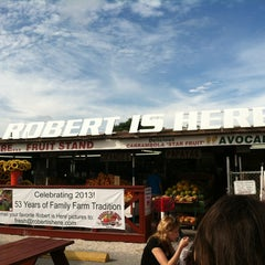 Photo taken at Robert Is Here Fruit Stand & Farm by Theresa R. on 12/29/2012