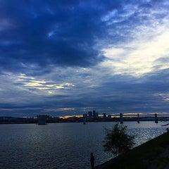Photo taken at 안양천 합수부 by Hak-Joon L. on 9/5/2015