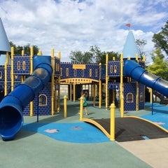 Photo taken at Zachary's Playground - Hawk Ridge Park by Bryce P. on 7/13/2014