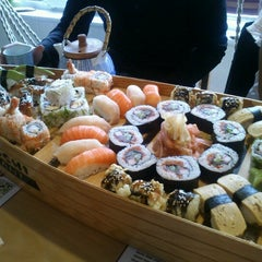 Photo taken at Bambuszliget Japán Étterem & Sushi Bár by Agi M. on 11/18/2012