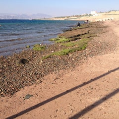Photo taken at South Beach - Aqaba by Ghaith A. on 12/13/2012