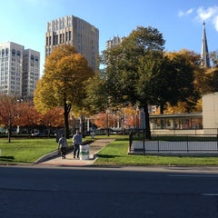 Photo taken at Grand Circus Park by Matthew L. on 10/21/2012