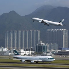 Photo taken at Hong Kong International Airport 香港國際機場 (HKG) by Stefan S. on 9/28/2013