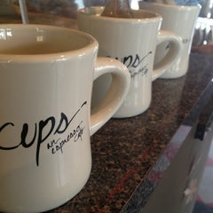Photo taken at Cups, an Espresso Café by Regina M. on 12/31/2012