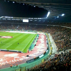 Photo taken at King Baudouin Stadium by Bart W. on 10/17/2012