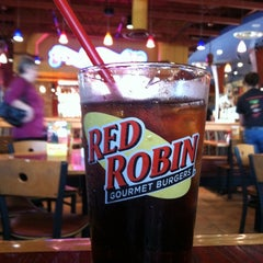 Photo taken at Red Robin Gourmet Burgers by Emily A. on 10/9/2012