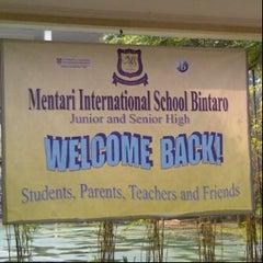 Photo taken at Mentari International School Bintaro by yulia s. on 7/17/2013