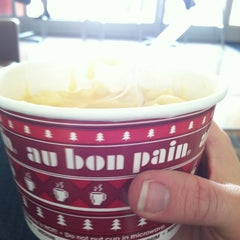 Photo taken at Au Bon Pain by Jenna B. on 1/24/2013