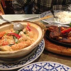 Photo taken at President Thai Restaurant by Andrew M. on 1/20/2013