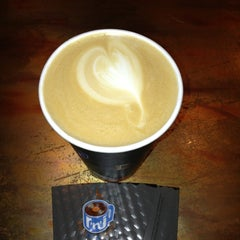 Photo taken at Rockn' Joe Coffeehouse & Bistro by Sarah K. on 8/28/2013