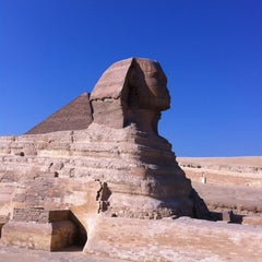 Photo taken at Great Sphinx of Giza | تمثال أبو الهول by Michael S. on 11/17/2012