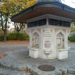 Photo taken at Türkenschanzpark - Montmartre by Furkan Ç. on 10/20/2013