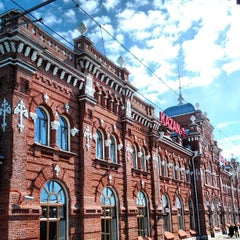 Photo taken at Ж/Д вокзал Казань-1 / Kazan Train Station by aushla a. on 3/30/2013