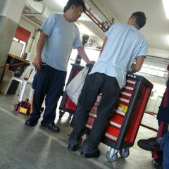 Photo taken at Toyota Service Center by Xiiao A. on 10/20/2012