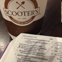 Photo taken at Scooter's Coffeehouse & Brown Baggers by Crystal Z. on 10/17/2012