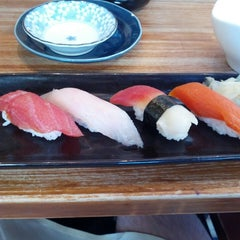 Photo taken at Moshi Moshi Sushi by Neil H. on 3/9/2013