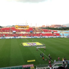 Photo taken at 광양축구전용구장 (Gwangyang Football Stadium) by WS L. on 7/26/2015