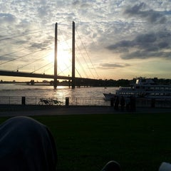 Photo taken at Rheinturm Park by Biotin_az on 6/14/2013