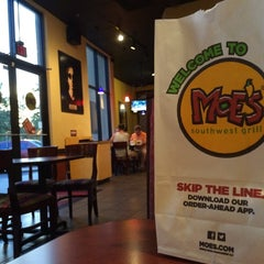 Photo taken at Moe's Southwest Grill by Steven on 4/14/2014