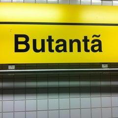 Photo taken at Estação Butantã (Metrô) by Tiago S. on 11/6/2012