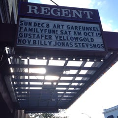 Photo taken at Regent Theater by Dianna C. on 10/13/2013