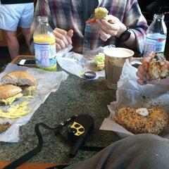 Photo taken at Burlington Bagel Bakery & Cafe by Geoff K. on 9/23/2012