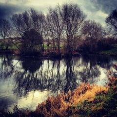 Photo taken at Saintbridge Balancing Pond by Tristian K. on 4/1/2012
