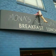 Photo taken at Mona's Restaurant by Andrea R. on 1/15/2012