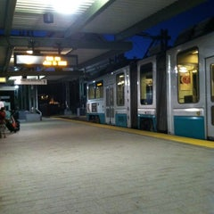 Photo taken at MBTA Riverside Station by Jesi on 7/3/2012