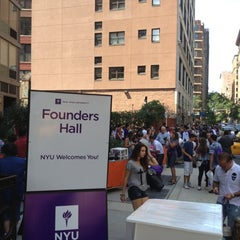 Photo taken at NYU Founders Residence Hall by Trevor S. on 8/26/2012
