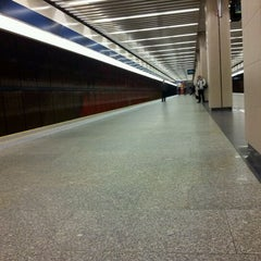Photo taken at Metro Ursynów by Kamil Z. on 11/5/2011