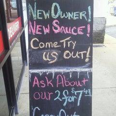 Photo taken at Pizza K by Linda V. on 1/11/2012