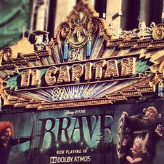 Photo taken at El Capitan Theatre by Cristina P. on 6/23/2012
