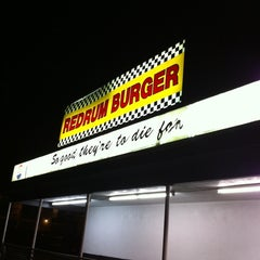 Photo taken at Redrum Burger by Ricky S. on 2/18/2012