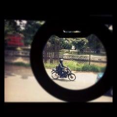 Photo taken at Halte TransJakarta Setiabudi Utara Aini by thomas f. on 3/15/2012