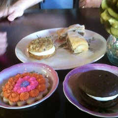 Photo taken at Amelias Tea Shop And Bakery by Lana S. on 3/8/2012