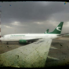 Photo taken at Saparmurat Turkmenbashi International Airport (ASB) by Tandogan on 9/11/2012