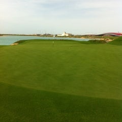 Photo taken at Yas Links Golf Course by Hyuck Soo L. on 4/14/2012