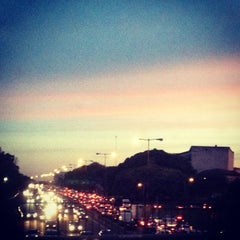 Photo taken at Cruce Beiro y Gral. Paz by Angel S. on 6/3/2013