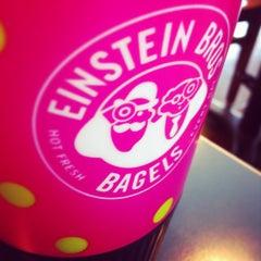 Photo taken at Einstein Bros Bagels by Angie F. on 4/21/2013