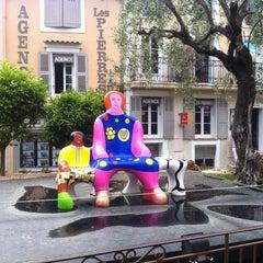 Photo taken at La Place De Mougins by Anastasia R. on 5/26/2015