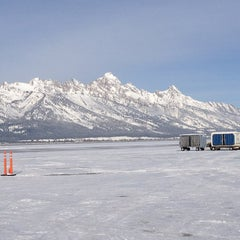 Photo taken at Jackson Hole Airport (JAC) by Helen H. on 12/29/2012