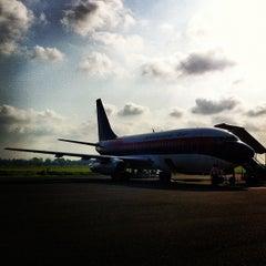 Photo taken at Bandara Fatmawati Soekarno (BKS) by oya e. on 9/18/2012