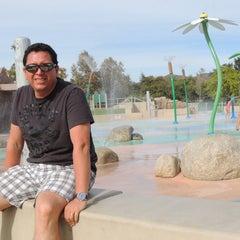 Photo taken at Lake Skinner Splash Pad by Esteban M. on 11/29/2013
