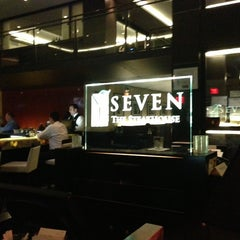 Photo taken at Seven Steakhouse Sushi Ultralounge &  Skybar by Luis A. on 4/17/2013
