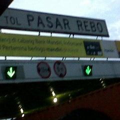 Photo taken at Gerbang Tol Pasar Rebo by Rahmad S. on 11/14/2012