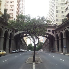 Photo taken at Viaduto Otávio Rocha (Viaduto da Borges) by Fernando B. on 5/22/2013