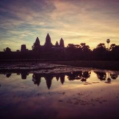 Photo taken at Angkor Wat Temple (អង្គរវត្ត) by Sebastian P. on 12/1/2012