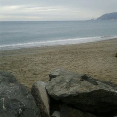 Photo taken at Spiaggia delle Fornaci by Marina D. on 11/4/2012